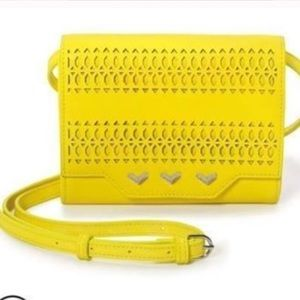 Stella Dot Yellow Versatile crossbody clutch new